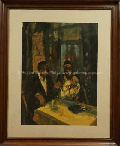 Karel Souček (Bor) - V kavárně