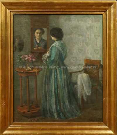 Autor neurčen - Dáma před zrcadlem