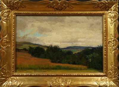 Alois Kalvoda - Před deštěm v polích
