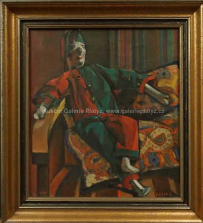 Autor neurčen - Odpočívající klaun
