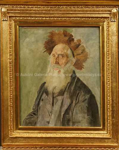 Isidor Kaufmann - Portrét rabína