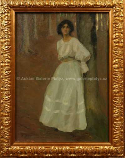 Karel Špillar - Dívka v bílých šatech