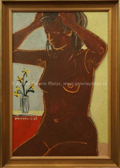 Arnošt Paderlík - Dívka s květinou