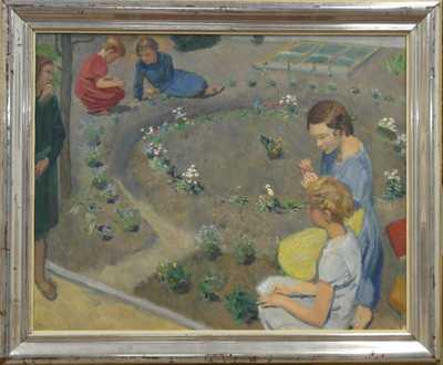 Josef Multrus - Ve školní zahradě