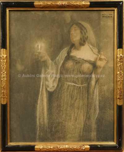 Adolf Wiesner - Dívka se svíčkou