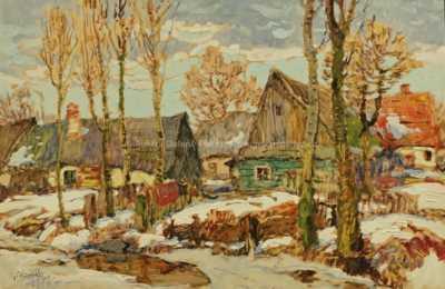 Oldřich Blažíček - Roubenky v zimě