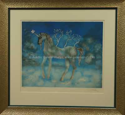 Salvador Dalí - Happy Unicorn - Šťastný jednorožec