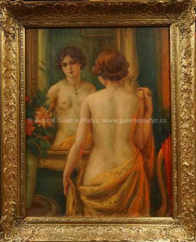 Dívka před zrcadlem