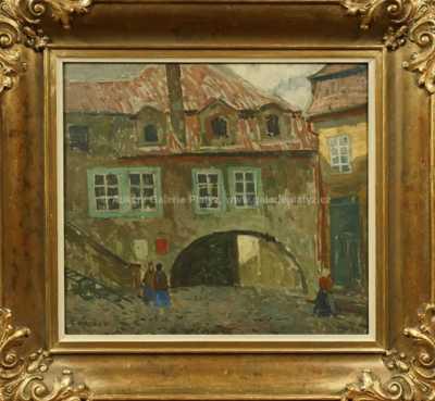 Gustav Macoun - Z nádvoří u Milosrdných