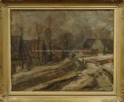 Gustav Macoun - Zasněžená cesta