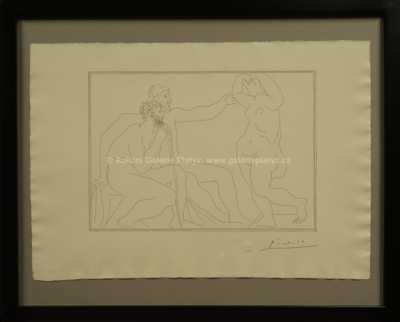 Pablo Picasso - Deux sculpteurs devant une statue