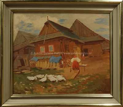 Ján Hála - Chalupy ze starého Važce