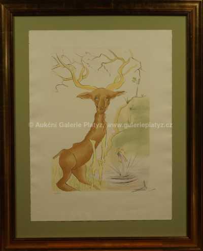 Salvador Dalí - Le cerf se voyant dans l´eau