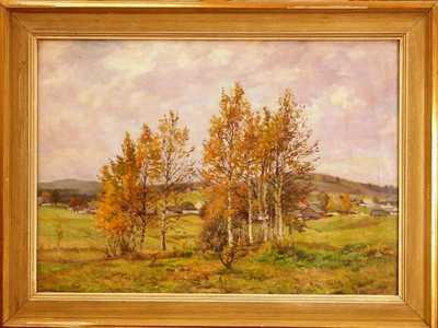 František Cína - Jelínek - Podzimní břízky