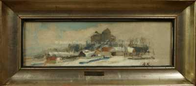 Alois Kalvoda - Zimní pohled na hrad Kámen
