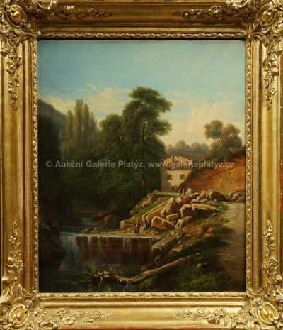 Vojtěch (Adalbert) Brechler - Rybář na jezu