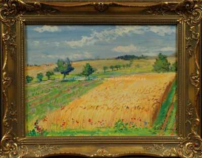 Karel Jan Sigmund - V polích u Heřmanova Městce