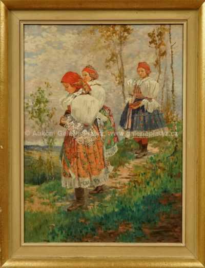 Julius Lauterbach - Krojovaná děvčata