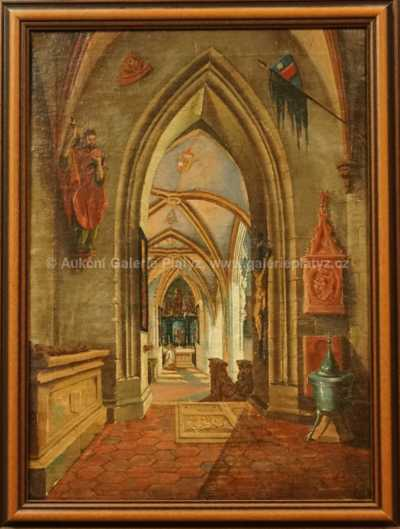 Hanuš Schwaiger - Interiér kostela I.