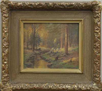 František Daněk - Sedláček - Potůček v lese