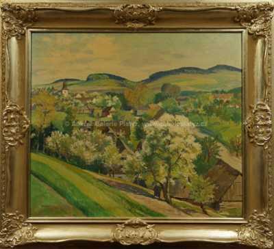 Gustav  Porš - Pohled na Vrbatův Kostelec