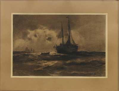 František Tavík Šimon - Na rozbouřeném moři