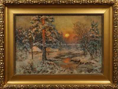 Julius Klever - Západ slunce
