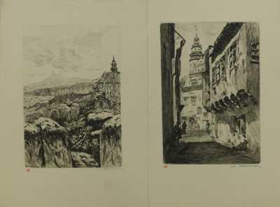 Vladislav Röhling - Konvolut dvou litografií