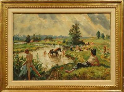 Josef Fiala - Plavení koní