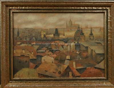 Václav Haise - Pražské střechy