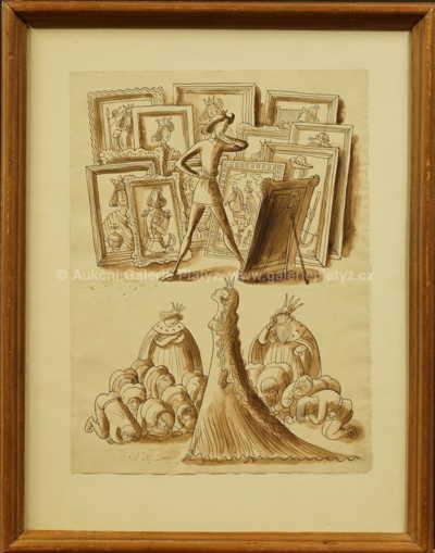 Cyril Bouda - Návrh ilustrace