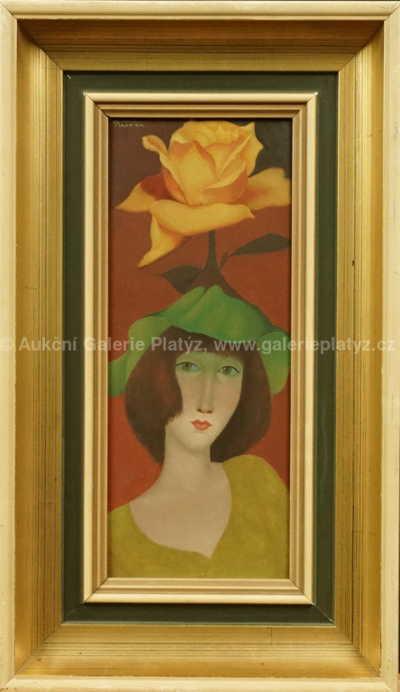 Ladislav Placatka - Dívka s růží