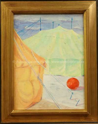 Neznačeno - Cirkusové šapito s červeným balónem