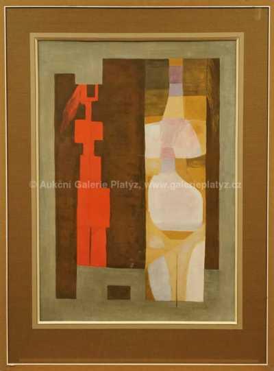 Antonín Kybal - Dvě abstraktní římské postavy