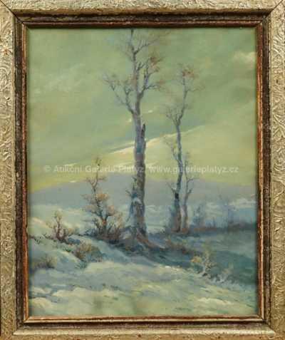 Gustav  Porš - Zimní motiv