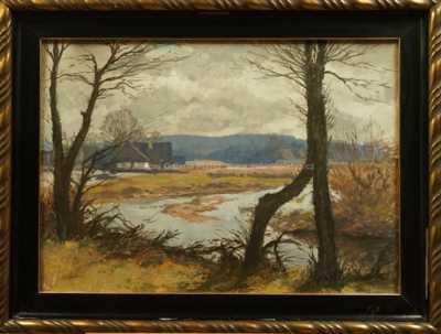 Gustav Macoun - Říčka v krajině