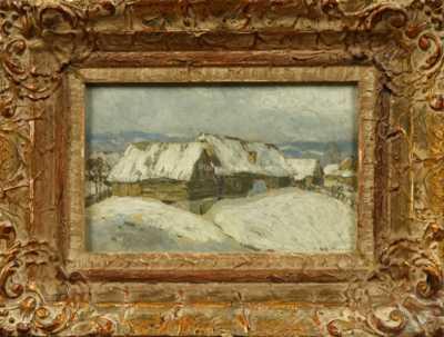 Augustin Mervart - Roubenky pod sněhem