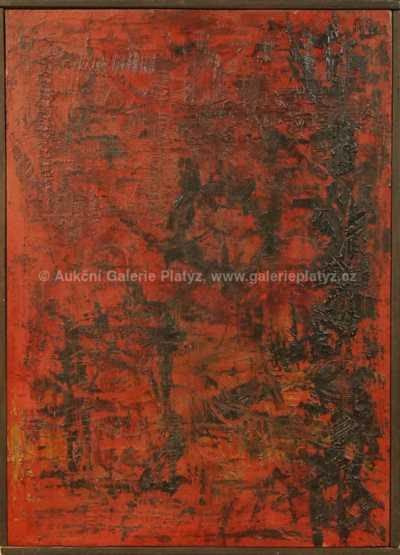 Neznačeno - Abstrakce v červeném