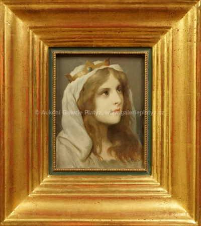Gabriel Cornelius von Max - Dívka s korunkou