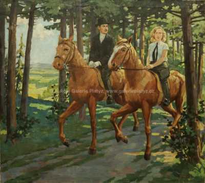Rudolf Adámek - Vyjížďka lesem