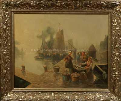Adolf (Constantin) Baumgartner - Stoiloff - V rybářském přístavu