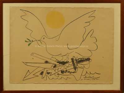Pablo Picasso - Holubice a slunce