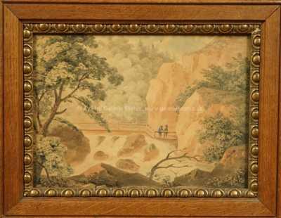 Antonín Mánes - Lávka v horách