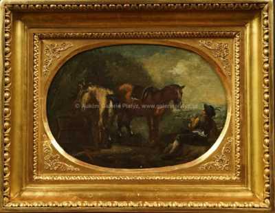 Quido Mánes - Vycházka s koňmi