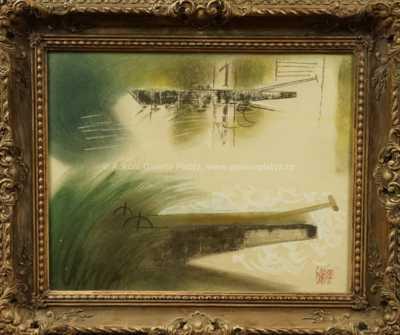 Vilém  Plocek - Loďky v průplavu