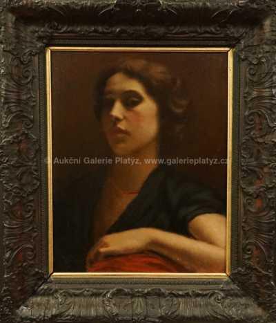 Rudolf Vojtěch Špillar - Portrét dívky