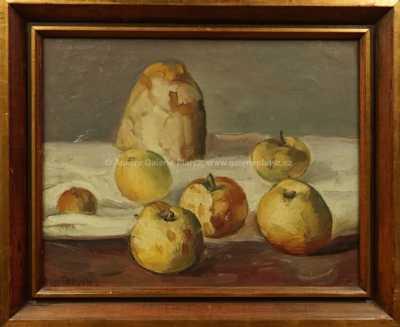 Karel Veržakovský - Zátiší s jablky