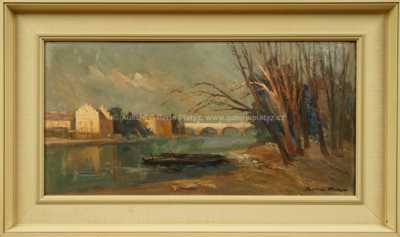 Karel Hodr - Pohled na Sovovy mlýny