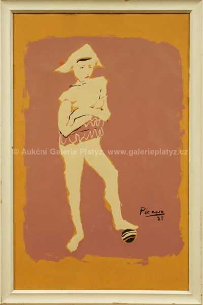Pablo Picasso - Klaun s míčem