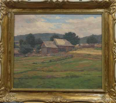 Před stodolou